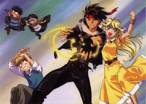 Characters from the anime Orphen