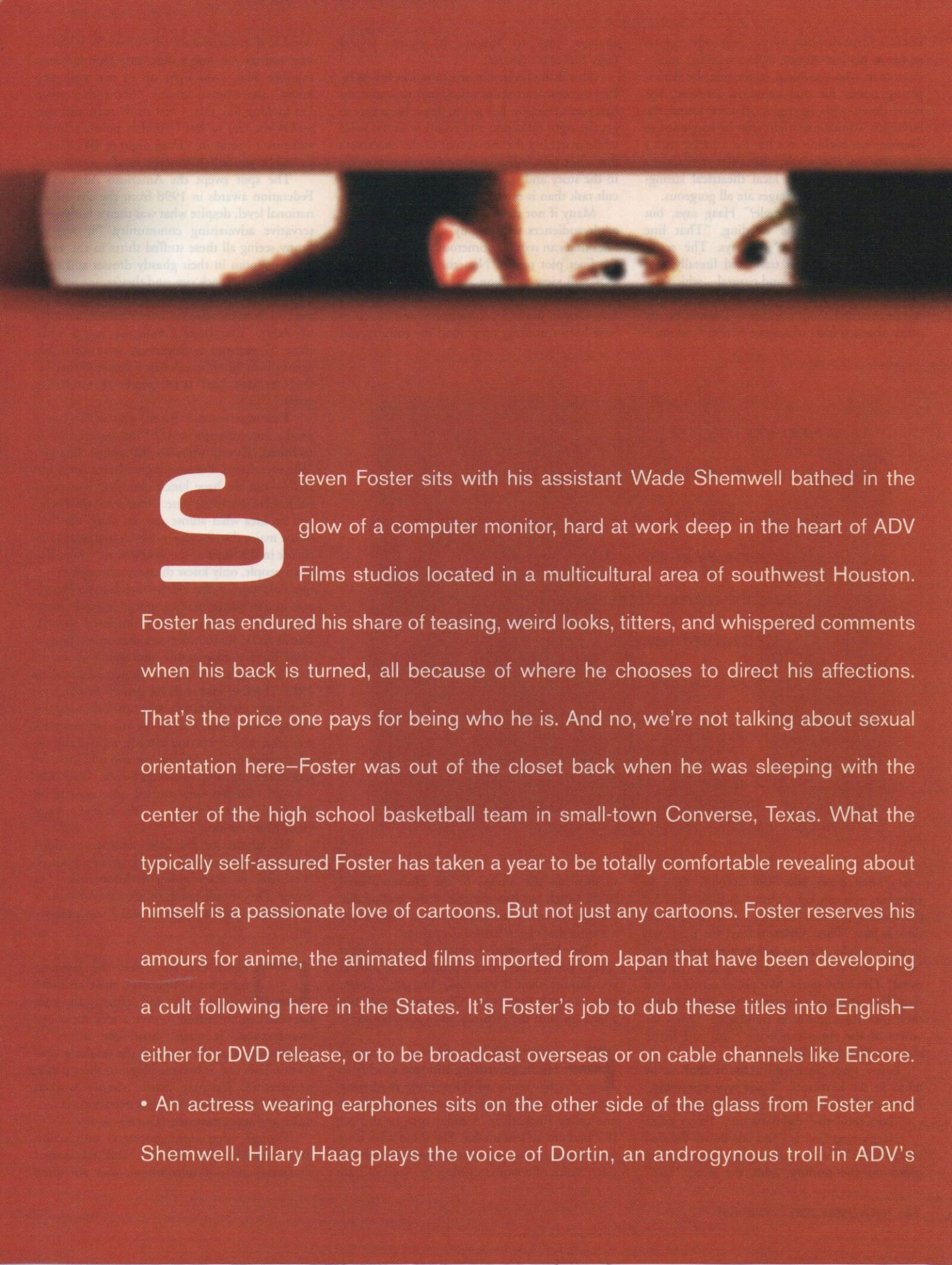 Page 2 of the OutSmart Magazine interior of the Ste7en Foster article
